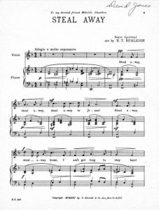 Music 345 race identity and representation in american music sheet music for steal away arr by ht burleigh complete sheet music here fandeluxe Image collections