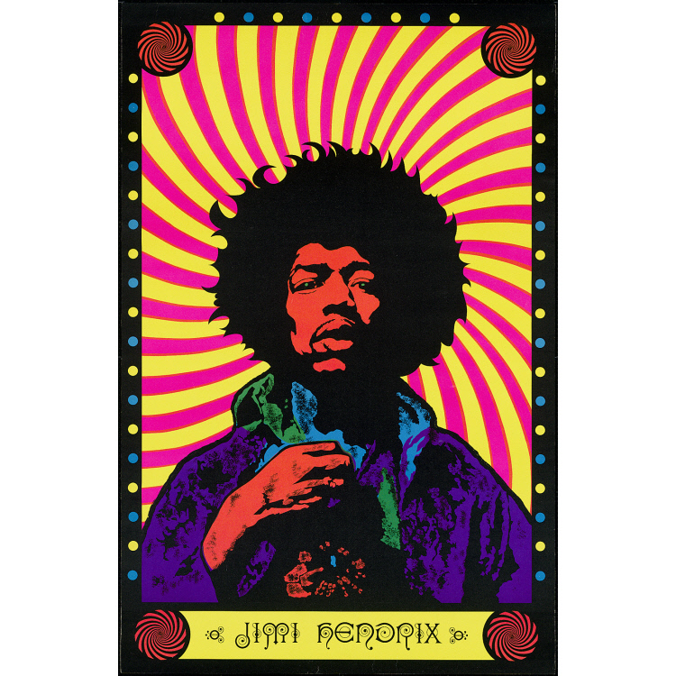 Jimi Hendrix Poster Housed In The National Portrait Gallery