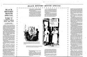 The Newspaper Clipping On Right Published In 1991 Discusses Struggle For Equality Black People Over Past 200 Years And Mentions Marian