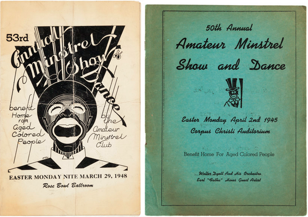 Program for the Amateur Minstrel Show and Dance