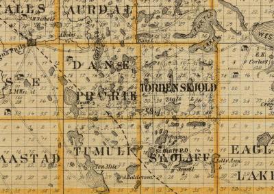 Minnesota County maps: Norwegian-American Congregations