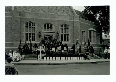 Band Playing in front of Post Office