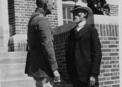 General Alfred W. Bjornstad (left) and Professor O.G. Felland