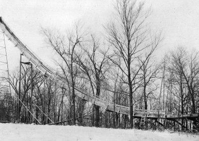 View of Original Wooden Ski Jump.