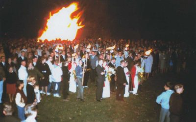 Old Main Homecoming Bonfire
