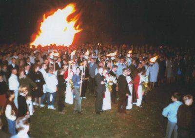 Students at Homecoming Celebration.