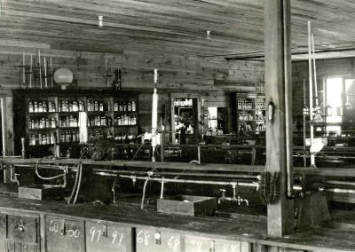 Interior, Chemistry Shack, ca. 1919