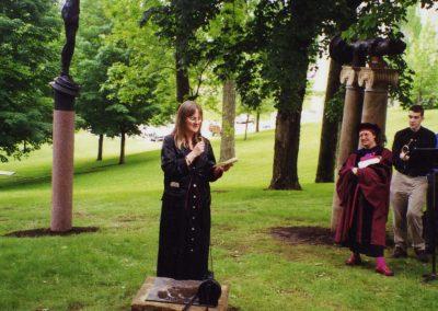 Jane Burnett at the Para-Pillar Dedication