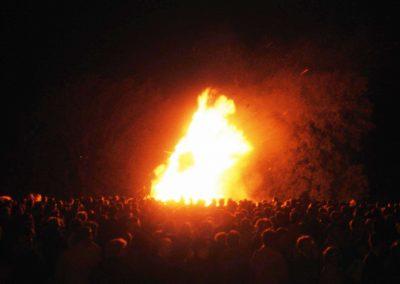 Homecoming Bonfire.