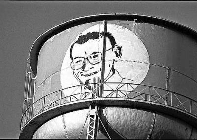 President Steve Lewis on Water Tower.