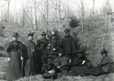 St. Olaf College Students Enjoying a Walk in Norway Valley, 1897.