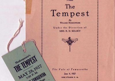 The Tempest Program, 1927
