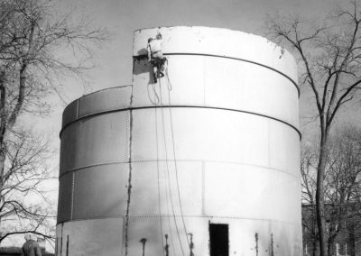St. Olaf College Water Tank Under Construction (near Mellby Hall), ca. 1948