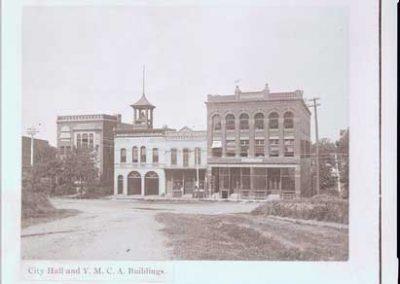 YMCA, Fire Hall, Nutting Block Buildings.