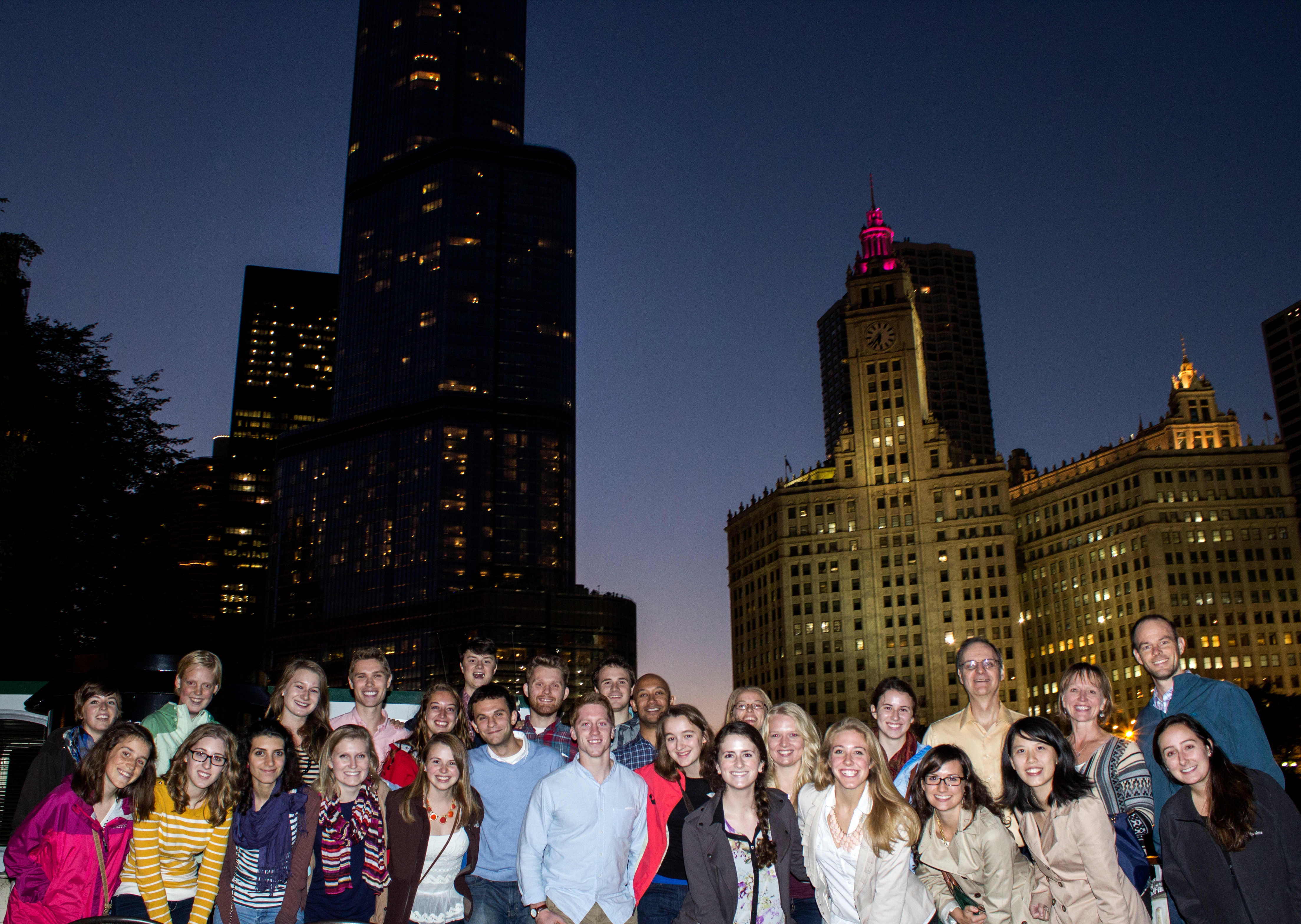 Oles and Piper Center staff on the Chicago Connections program in 2013