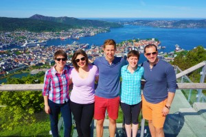 Oles make the treck up  Mount Fløyen to a view of Bergen well worth the trip.