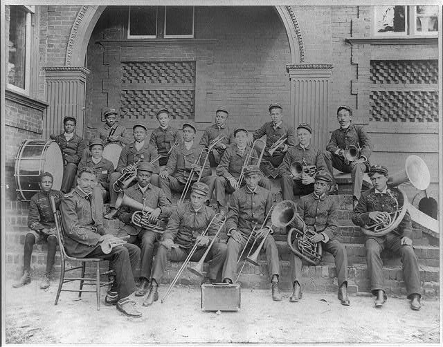 Claflin University Brass Band. Picture collected for the 1900 Paris Exposition