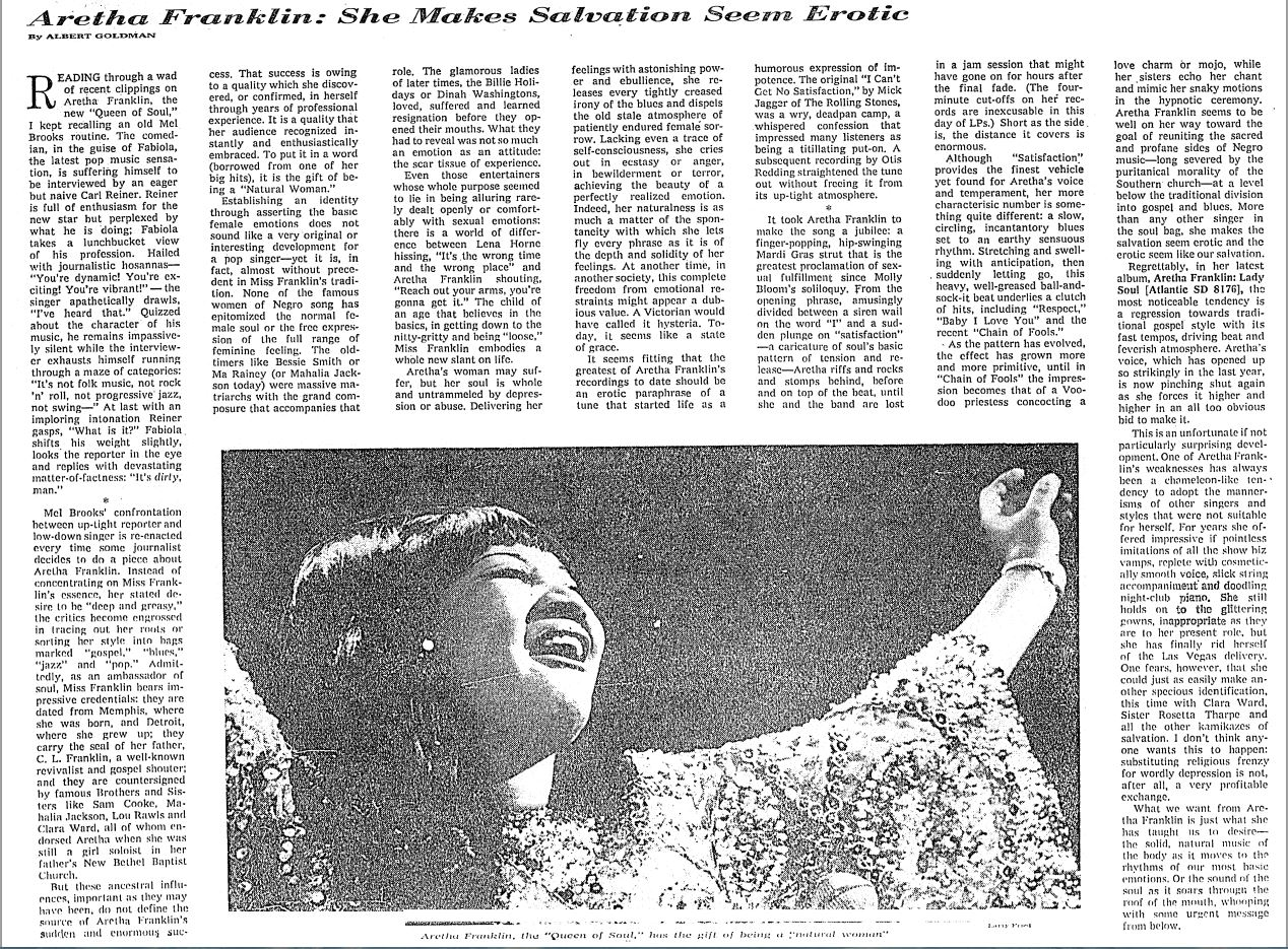 aretha franklin article