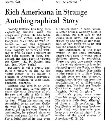 Woody guthrie news clipping