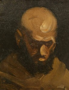 """Head of Boxer"", painted by George Wesley Bellows"