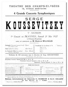 Program from May 21, 1927 Classical.net