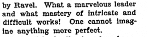 """Prunieres' praise for Koussevitzky. Prunieres, Henry. """"Paris Music Varied."""" New York Times (1923-Current file) 06/19/ 1927 Jun 19 1927: 1. Print."""