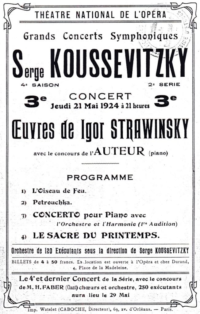 Théatre National de l'Opéra, Théâtre National de l'Opéra Concert Program, PDF, 1924.