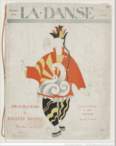 Program from the December 1920 season of the Ballets Russes