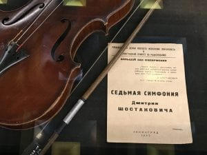Violin and Program, Blockade of Leningrad Memorial-Museum, 2016