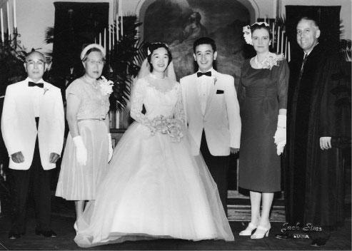 Wedding picture of Sally and Toshio Sudo. Photo courtesy of Sally Sudo